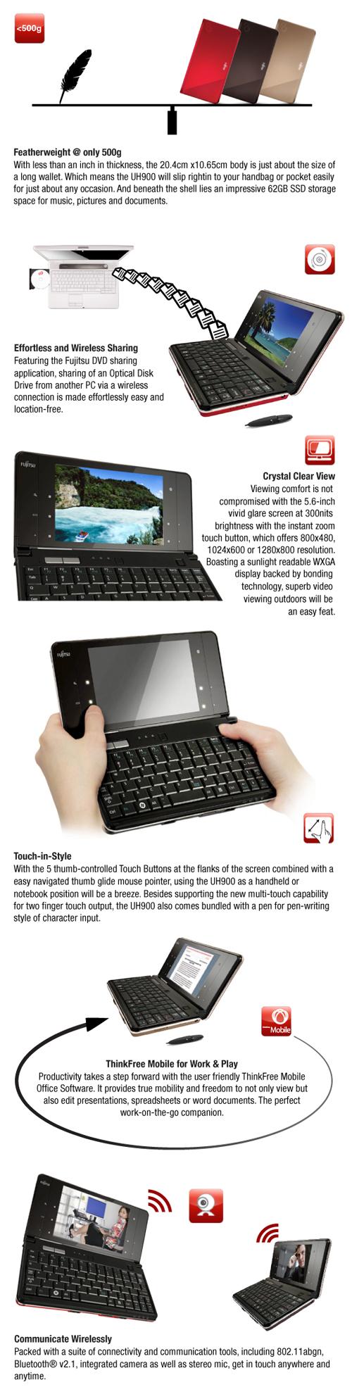 Fujitsu LifeBook UH900 Ultra SlimNote   Asianic Distributors